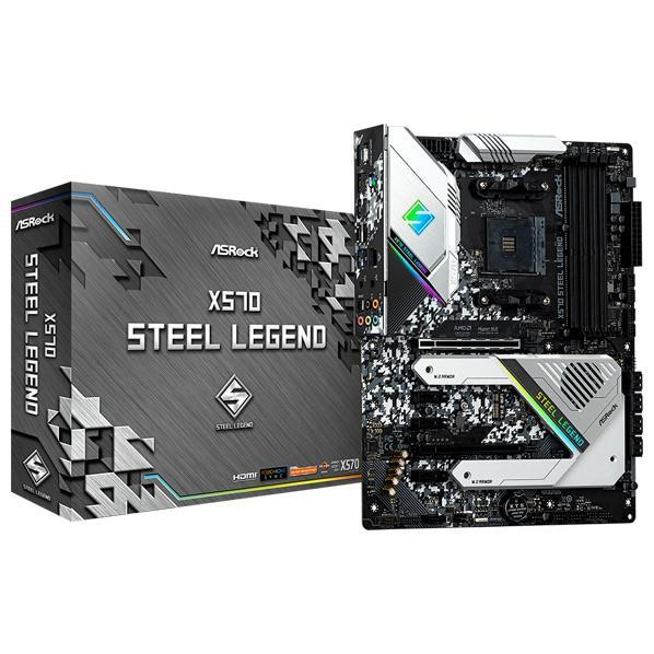AMD X570搭載 厳選したパーツを採用し、コストを抑えつつ高い耐久性を実現した人気モデル。 ASROCK ASRock SocketAM4 AMD X570 ATX マザーボード X570 Steel Legend X570 STEEL LEGEND [X570STEELLEGEND]