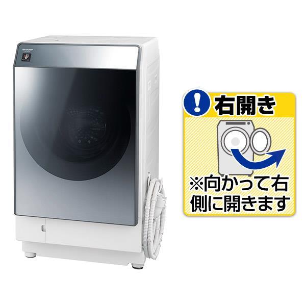 シャープ 【右開き】11.0kgドラム式洗濯乾燥機 シルバー ESW112SR [ESW112SR]【RNH】