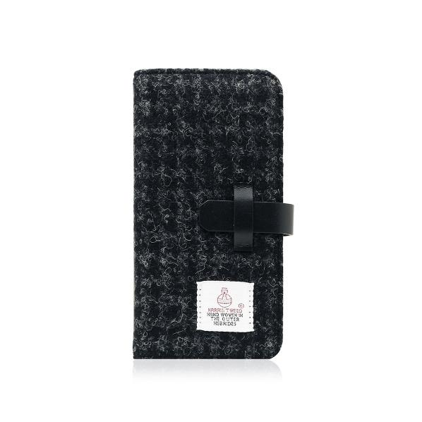 SLG Design iPhone8/7用Harris Tweed Diary ブラック SD8117I7 [SD8117I7]