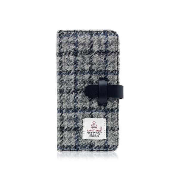 SLG Design iPhone8/7用Harris Tweed Diary グレー×ネイビー SD8120I7 [SD8120I7]