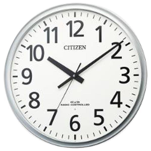 リズム時計 電波掛時計 CITIZEN(シチズン) シルバーメタリック色(白) 8MY547-019 [8MY547019]