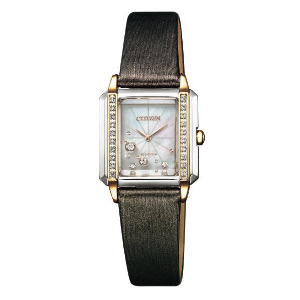 シチズン 腕時計 シチズンエル エコ・ドライブ ダイヤモンド スクエアケース 白蝶貝 EG7068-16D [EG706816D]