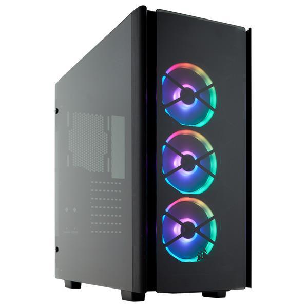 アルミニウム構造 強化スモークガラスパネル CORSAIR Commander PRO 対応の美しい RGB ライティングを備えたプレミアムミドルタワー愛好者向けの PC ケースです DKPP コルセア Series 卓抜 Obsidian 本物 SE プレミアムミドルタワーPCケース CC-9011139-WW CC9011139WW 500D