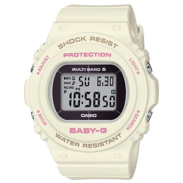 カシオ ソーラー電波腕時計 BABY-G ホワイト BGD-5700-7JF [BGD57007JF]