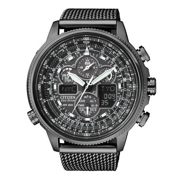 シチズン エコ・ドライブ電波時計 プロマスター SKY クロノグラフ 黒 JY8037-50E [JY803750E]