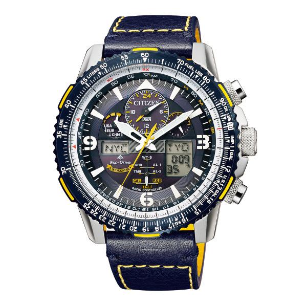 シチズン ソーラー電波腕時計 プロマスター SKY ブルーエンジェルスモデル ダークブルー JY8078-01L [JY807801L]