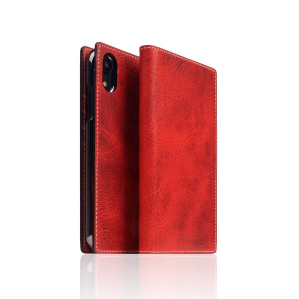 SLG Design iPhone XR用ケース Badalassi Wax case レッド SD13689I61 [SD13689I61]
