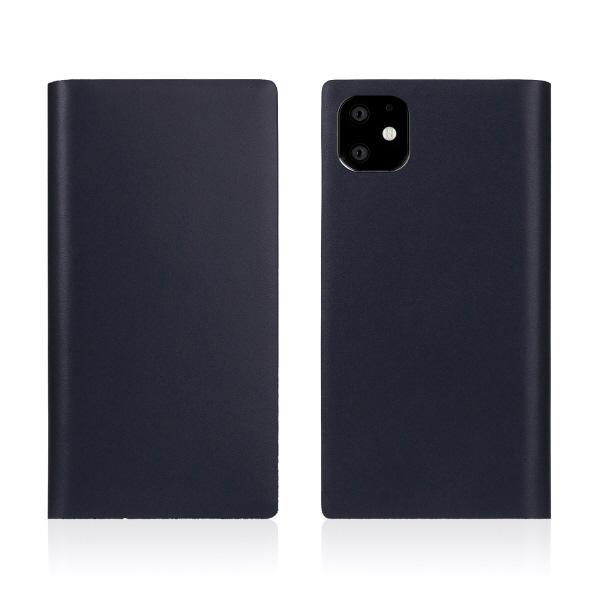 SLG Design iPhone 11用ケース Calf Skin Leather Diary ネイビー SD17932I61R [SD17932I61R]