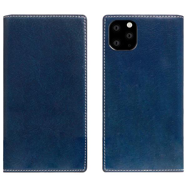 SLG Design iPhone 11 Pro Max用ケース Tamponata Leather case ブルー SD17939I65R [SD17939I65R]