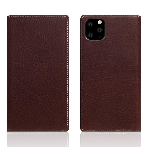 SLG Design iPhone 11 Pro Max用レザーケース Minerva Box Leather Case ブラウン SD17949I65R [SD17949I65R]