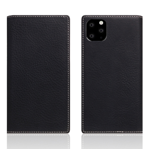 SLG Design iPhone 11 Pro Max用レザーケース Minerva Box Leather Case ブラック SD17950I65R [SD17950I65R]
