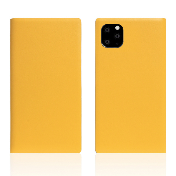 SLG Design iPhone 11 Pro Max用ケース Calf Skin Leather Diary イエロー SD17961I65R [SD17961I65R]
