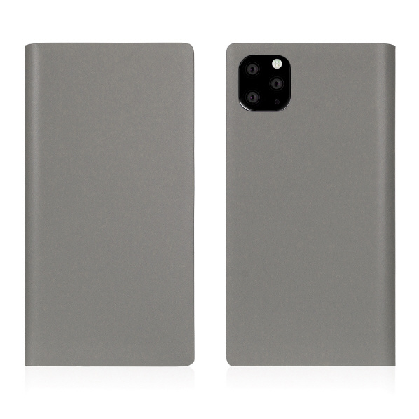 SLG Design iPhone 11 Pro Max用ケース Calf Skin Leather Diary グレー SD17963I65R [SD17963I65R]