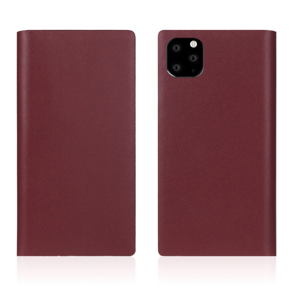 SLG Design iPhone 11 Pro Max用ケース Calf Skin Leather Diary バーガンディ SD17965I65R [SD17965I65R]