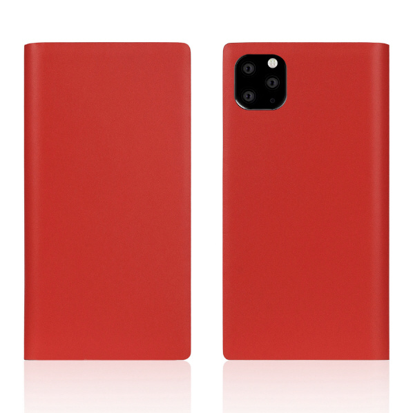 SLG Design iPhone 11 Pro Max用ケース Calf Skin Leather Diary レッド SD17966I65R [SD17966I65R]