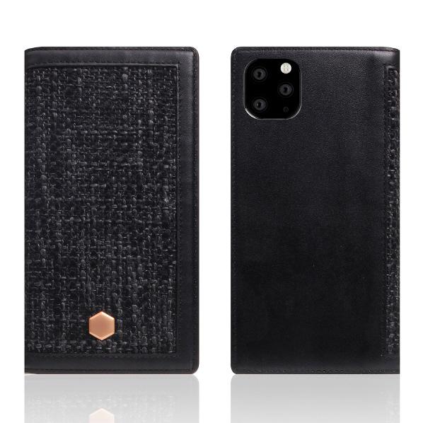 SLG Design iPhone 11 Pro Max用手帳型ケース Edition Calf Skin Leather Diary ブラック SD17973I65R [SD17973I65R]
