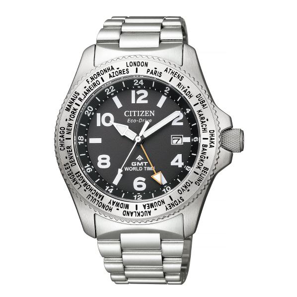 シチズン エコ・ドライブ腕時計 プロマスター LANDシリーズ GMT グレー BJ7100-82E [BJ710082E]