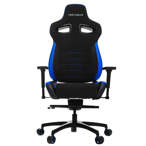 VertaGear ゲーミングチェア Racing Series P-Line PL4500 Coffee Fiber with Silver Gaming Chair Black&Blue VG-PL4500_BL [VGPL4500BL]