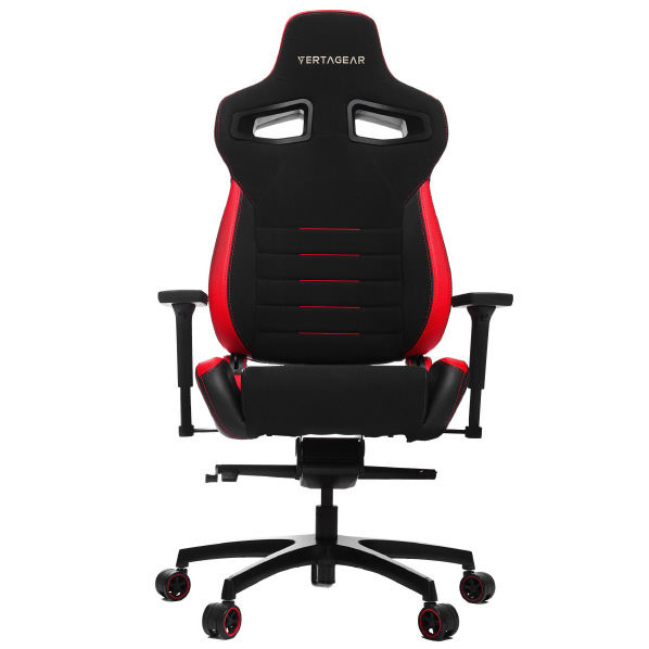 VertaGear ゲーミングチェア Racing Series P-Line PL4500 Coffee Fiber with Silver Gaming Chair Black&Red VG-PL4500_RD [VGPL4500RD]