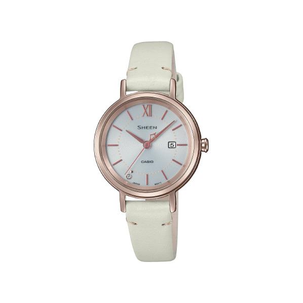 カシオ ソーラー腕時計 SHEEN ホワイト SHS-D300CGL-7AJF [SHSD300CGL7AJF]