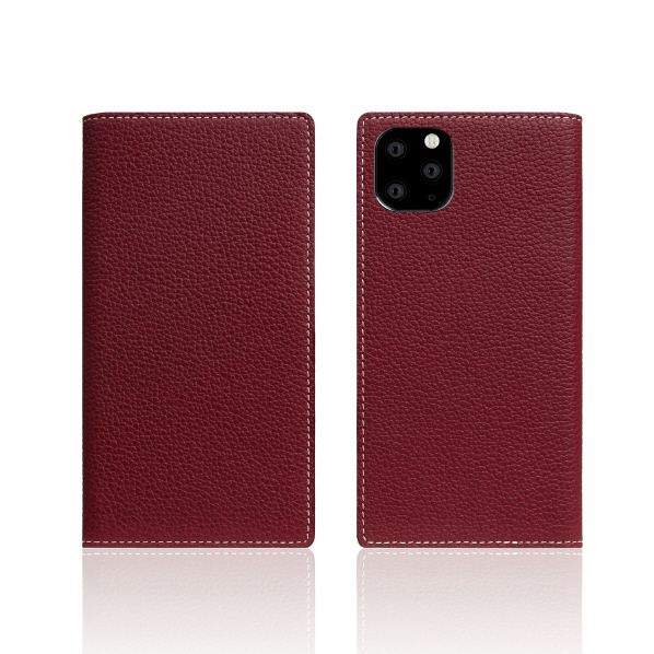 SLG Design iPhone 11 Pro用ケース Full Grain Leather Case バーガンディローズ SD17874I58R [SD17874I58R]