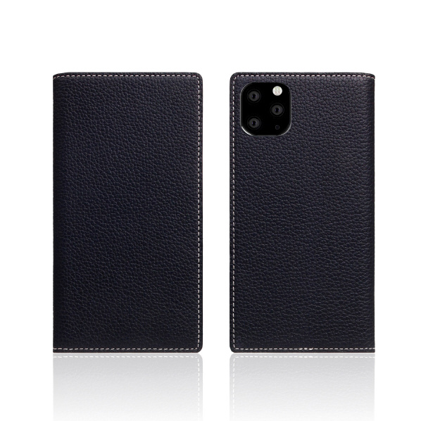 SLG Design iPhone 11 Pro用ケース Full Grain Leather Case ブラック ブルー SD17877I58R [SD17877I58R]