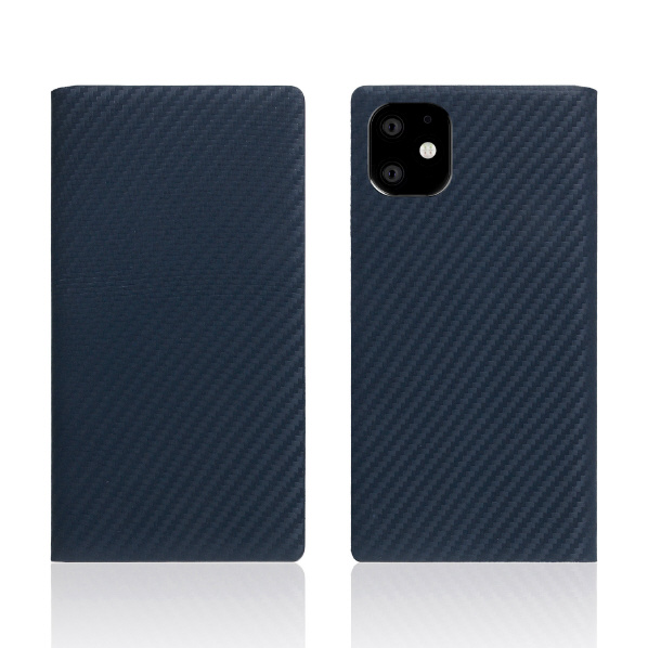 SLG Design iPhone 11用ケース carbon leather case ネイビー SD17900I61R [SD17900I61R]