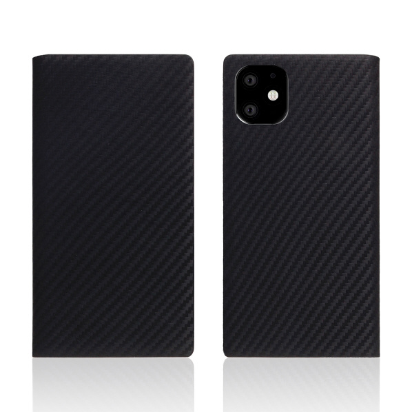 SLG Design iPhone 11用ケース carbon leather case ブラック SD17901I61R [SD17901I61R]