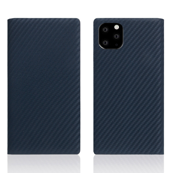 SLG Design iPhone 11 Pro Max用ケース carbon leather case ネイビー SD17941I65R [SD17941I65R]