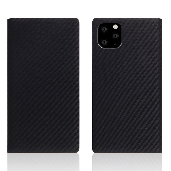 SLG Design iPhone 11 Pro Max用ケース carbon leather case ブラック SD17942I65R [SD17942I65R]