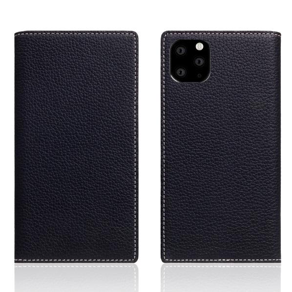 SLG Design iPhone 11 Pro Max用Full Grain Leather Case ブラックブルー SD17959I65R [SD17959I65R]