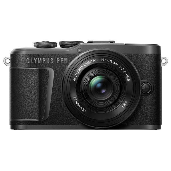 オリンパス デジタル一眼カメラ・14-42mm EZ レンズキット OLYMPUS PEN ブラック E-PL10EZレンズキットBLK [EPL10LKBLK]【RNH】
