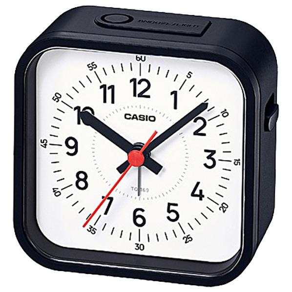 暗所での探し物に便利なミニライト付きのおしゃれなアラームクロックです カシオ 置時計 セール開催中最短即日発送 正規店 ブラック TQ1691JF SPPS TQ-169-1JF