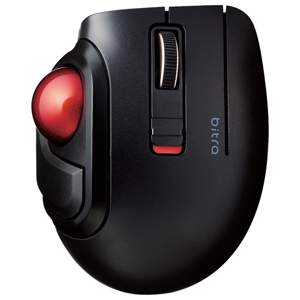 エレコム Bluetooth(R)モバイルトラックボール(親指操作タイプ) ブラック M-MT1BRSBK [MMT1BRSBK]