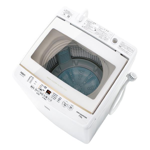 AQUA 7.0kg全自動洗濯機 keyword キーワードホワイト AQW-GV7E7(KW) [AQWGV7E7KW]【RNH】