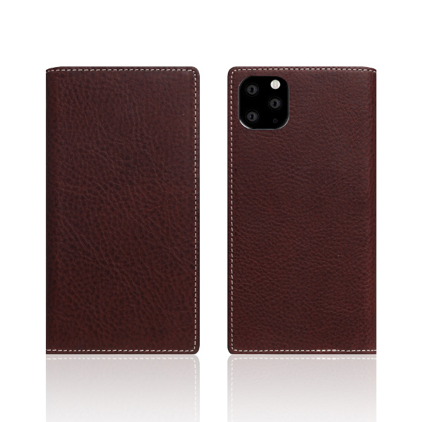 SLG Design iPhone 11 Pro用ケース Minerva Box Leather Case ブラウン SD17867I58R [SD17867I58R]
