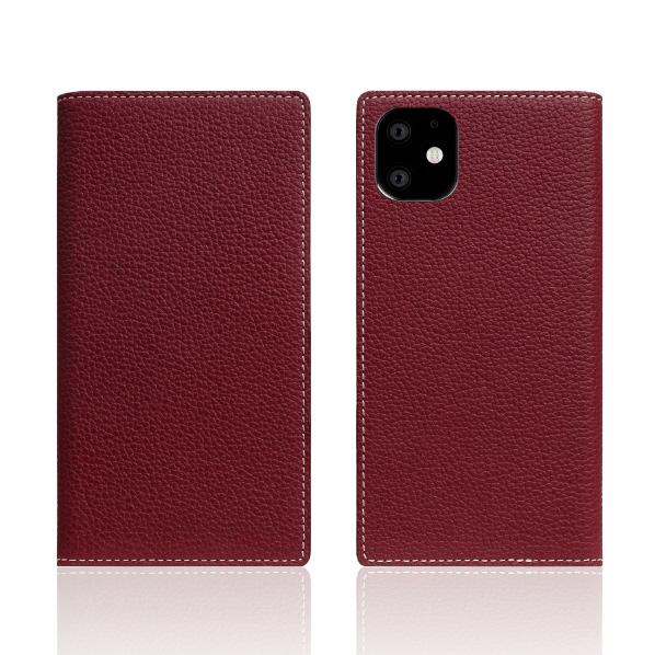 SLG Design iPhone 11用ケース Full Grain Leather Case バーガンディローズ SD17915I61R [SD17915I61R]
