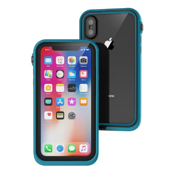 トリニティ iPhone X用完全防水ケース グレイシアブルー CT-WPIP178-GB [CTWPIP178GB]