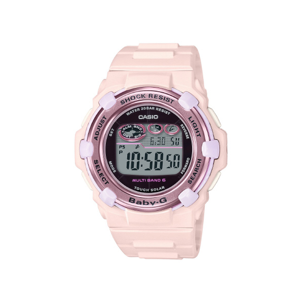 カシオ ソーラー電波腕時計 BABY-G ピンク BGR-3000CB-4JF [BGR3000CB4JF]