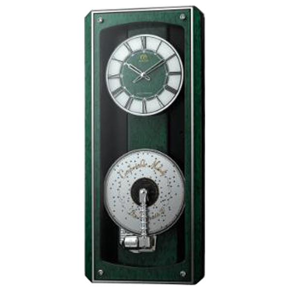 リズム時計 プライムオルガニートM N 電波掛時計 4MN532HG05 [4MN532HG05]