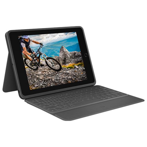 ロジクール iPad(第7世代)用キーボード一体型ケース RUGGED FOLIO IK1054BKA [IK1054BKA]