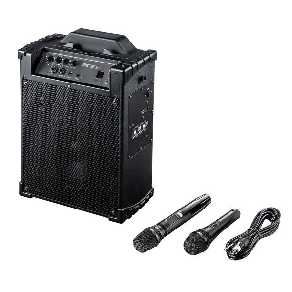 サンワサプライ ワイヤレスマイク付き拡声器スピーカー MM-SPAMP10 [MMSPAMP10]