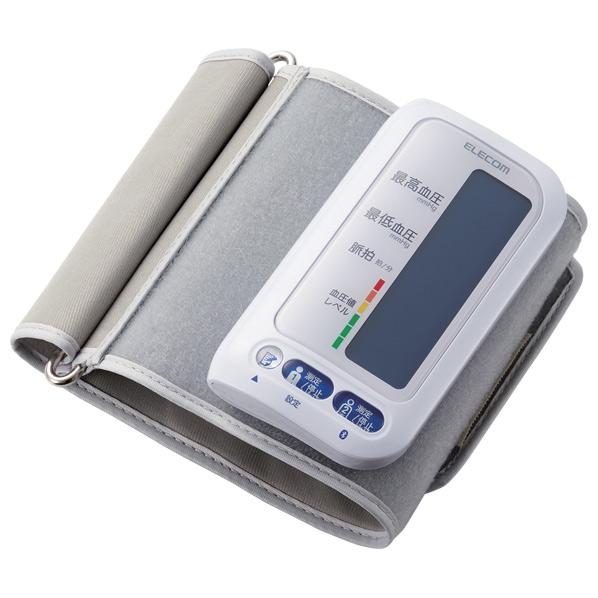 あんしん延長保証対象 チューブがなく コンパクトに持ち運べるチューブレス上腕式血圧計です 即納 エレコム Bluetooth対応チューブレス上腕式血圧計 ホワイト RNH エクリア HCMAS01BTWH HCM-AS01BTWH ついに再販開始