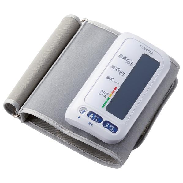 あんしん延長保証対象 チューブがなく コンパクトに持ち運べるチューブレス上腕式血圧計です 驚きの価格が実現 新商品 エレコム チューブレス上腕式血圧計 エクリア HCMAS01WH HCM-AS01WH RNH ホワイト