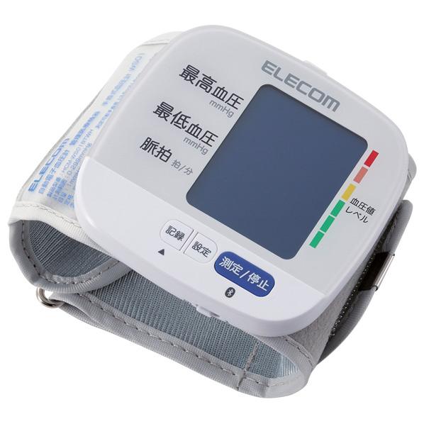 あんしん延長保証対象 Bluetooth通信で測定データをアプリに簡単送信 いつでも送料無料 エレコム Bluetooth対応手首式血圧計 エクリア HCM-WS01BTWH デポー ホワイト HCMWS01BTWH RNH