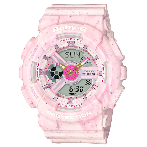 カシオ 腕時計 BABY-G Ice Cream Pastel Series ピンク BA-110PI-4AJF [BA110PI4AJF]