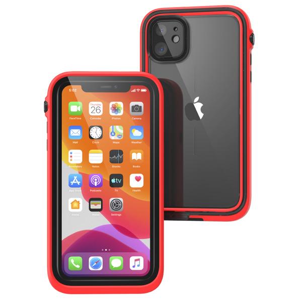 トリニティ iPhone 11用防水・耐衝撃ケース カタリスト レッド CT-WPIP19M-RD [CTWPIP19MRD]