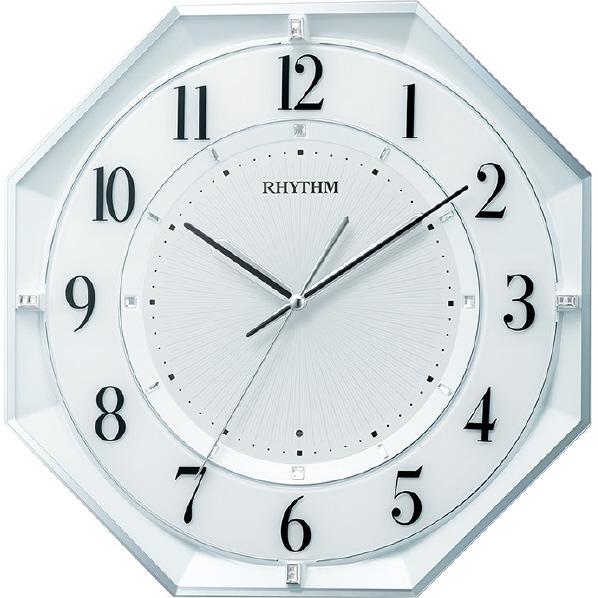 リズム時計 フィットウェーブクールM552 電波掛時計 白パール 8MY552SR03 [8MY552SR03]