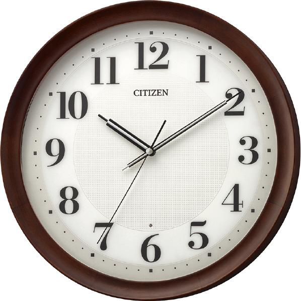 リズム時計 電波掛時計 CITIZEN(シチズン) 茶色 8MY554-006 [8MY554006]