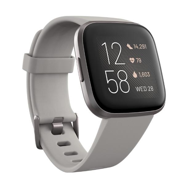 Fitbit Alexa搭載 スマートウォッチ L/Sサイズ Versa2 Sandstone/Iron Mist FB507GYSR-FRCJK [FB507GYSRFRCJK]